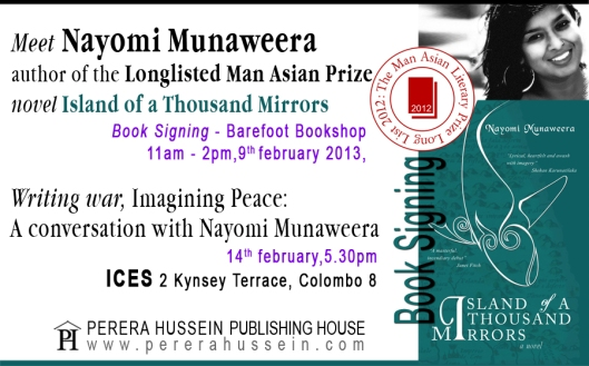 Meet Nayomi Munaweera, author of Island of a Thousand Mirrors.
