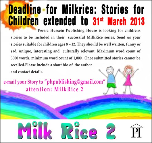 MilkRice 2 Children's stories submission deadline extended . . .