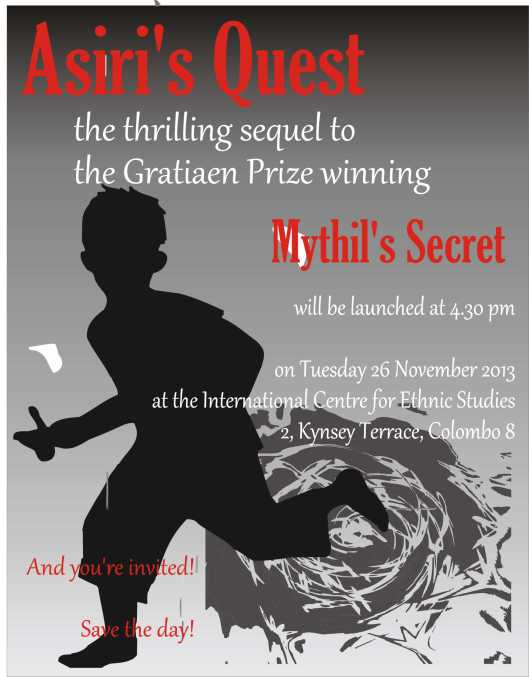 Keep the date free for the launch of Asiri's Quest, the exciting sequel to Mythil's Secret!